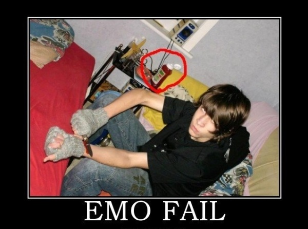 emo fails, ketchup shows up