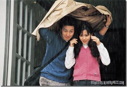 sang-min ve ji-hae özel şemsiyeyle