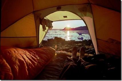 çadırda denize karşı uyanmak hayali