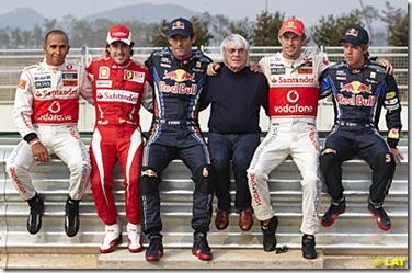 2010 formula1 şampiyonluk adaylarının toplu fotoğrafı
