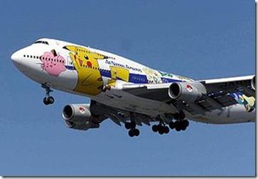japon uçağında pikaçu
