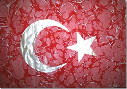 turk bayragi ebru 23 nisan