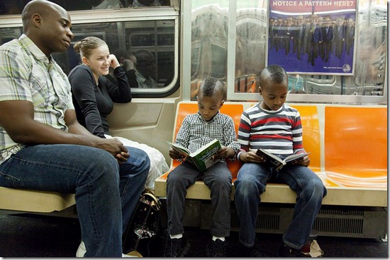 underground reading kids